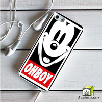 Mickey Mouse Disney Obey Ohboy Funny Humour Joke Funny iPhone 5|5S Case by Avallen