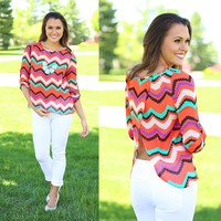 Electric Atmosphere Chevron Top