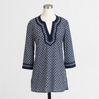 Factory printed poplin tunic