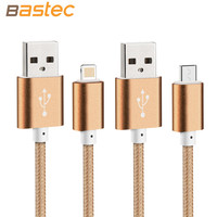 Metallic - Phone Charger Cable for iPhone 6 Plus 5s iPadmini Samsung Sony Xiaomi HTC Nokia