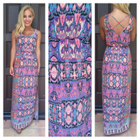 Charmed by a Snake Maxi Dress