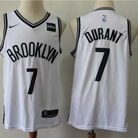 2019-2020 Brooklyn Nets 7 Kevin Durant White Basketball Jersey DCCK