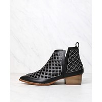 Cape Robbin - Vegan Leather Cut Out Booties in More Colors