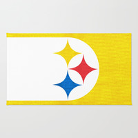 Steel City Area & Throw Rug by Shipwreck Moon Designs