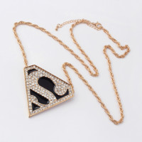 Superman Power Bling Bling Statement Necklace