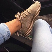 Adidas Women Yeezy Boost Sneakers Running Sports Shoes Foot khaki