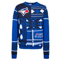 Toronto Blue Jays MLB 2015 Patches Ugly Crewneck Holiday Sweater