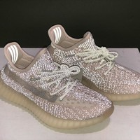 """Adidas Yeezy Boost 350 V2 boost """"SYNTRF"""" Sneakers Running Sport Shoes Static Refective Shoes"""