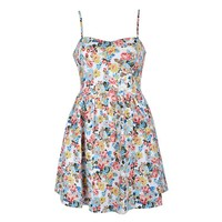 FLORAL BOW BACK SWEETHEART DRESS