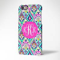 Floral Monogram iPhone 6 6 Plus 5S 5 5C Protective Case #975