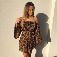 Women Retro Long Sleeve Dress
