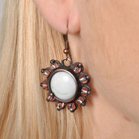 Earrings handmade stained glass metal milk spectacular jewelry nice accessories