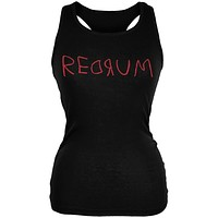 Halloween Horror Redrum Black Juniors Soft Tank Top