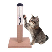 """Evalan Cat Scratching Post Sisal Wrapped Ultimate Cat Scratcher 22"""" with Mouse Moving Cats Toy '"""