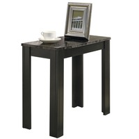 Accent Table - Black / Grey Marble