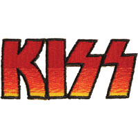 KISS Men's Logo Embroidered Patch Red