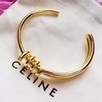 CELINE Hot Sale Stylish Woman Chic Knot Bracelet Accessories Jewelry Golden