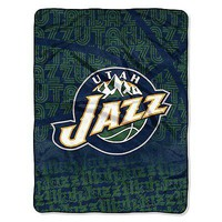 Utah Jazz NBA 46x60 Redux Micro Raschel Plush Throw