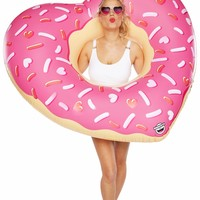 Giant Heart-Shaped Donut Pool Float