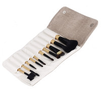 Wood Professional 10Pcs Makeup Brush Kit Cosmetic Make Up Set with Pouch Bag