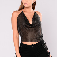 Magical Metal Top - Black
