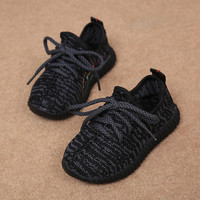 2016 Autumn Kids Fashion New Shoes Sneakers Toddler Boys Girls Breathable Mesh Sneakers Little Children Soft Bottom Shoes