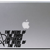 Star Trek Decal Sticker / Macbook Decal Sticker / Laptop Decal Sticker / Car Decal Sticker