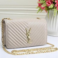 Perfect YSL Women Fashion Leather Shoulder Bag Crossbody