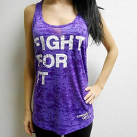 Fight For It Tank Top. Boxing Tank Top. Crossfit Tank Top. Racerback Burnout Tank Top. Boxing Shirt. Fighting Tank Top. Motivational Tank.
