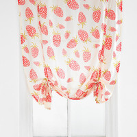 Urban Outfitters - Plum & Bow Strawberry Draped Shade Curtain