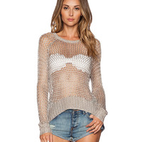 Long Sleeves Cutout Detail Ribbed Knitted Top