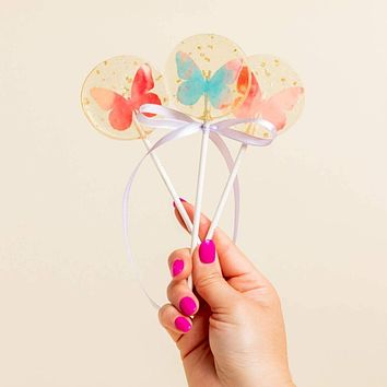Butterfly Spring Lollipops - Guava