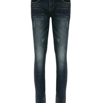 Blue Skinny Jeans with Pockets