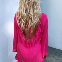 Pool Side Cover Up: Hot Pink