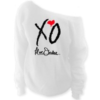 XO Til We Overdose... The Weeknd Clothing Off-The-Shoulder Oversized Slouchy Sweatshirt