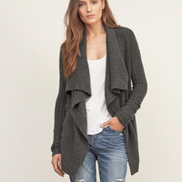 Textured Drapey Cardigan