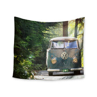 "Robin Dickinson ""Peace Love Nature"" Forest Wall Tapestry"