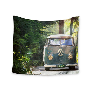 """Robin Dickinson """"Peace Love Nature"""" Forest Wall Tapestry"""