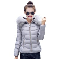 Womens Winter Jackets And Coats 2017 Women's Parkas Thick Warm Faux Fur Collar Hooded Anorak Ladies Jacket Female