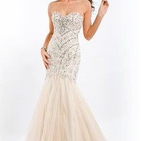 Strapless Mermaid Gown by Party Time