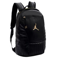 Jordan fashion casual men's and women's backpacks are selling solid color patchwork backpacks Black