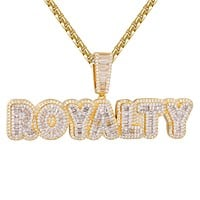 Baguette Layer Royalty Hip Hop Gold Tone Icy Pendant Chain