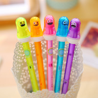 1 Pcs Cute Kawaii 0.5mm Aihao Korean Ghost Family Erasable Gel Pen Blue Black Ink Kids Office Writing School Supplies Stationery