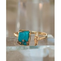 Marina Ring * Copper Turquoise * Gold vermeil * BJR094