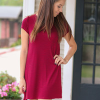 Perfect Surprise Dress - Burgundy