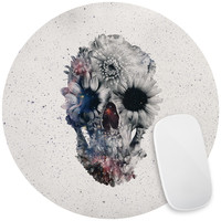 Floral Skull 2 Mouse Pad Decal