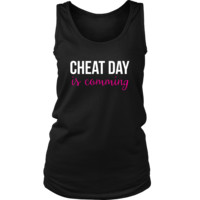 Cheat Day is Comming Funny Gym Workout Fitness Tank Top