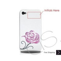 Pink Rosaceae Bling Swarovski Crystal iPhone 5 Case Valentine's Special - Pink (Thank you)