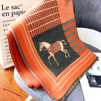 Hermes 2019 new women's long paragraph comfortable casual shawl scarf