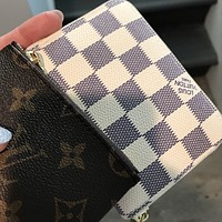 LV louis vuitton women s fashion clutch Zipper wallet
